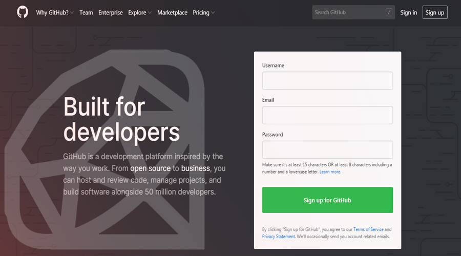 Github Built with Ruby on Rails