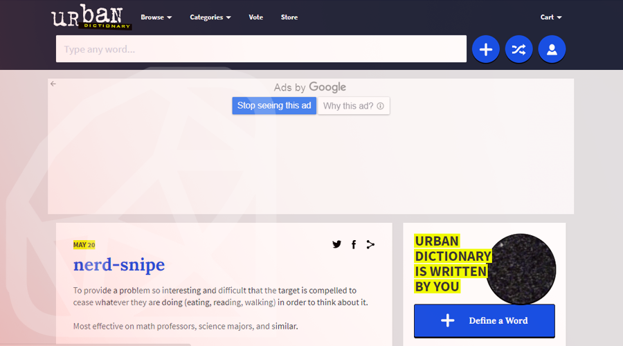 Urban Dictionary Built with Ruby on Rails